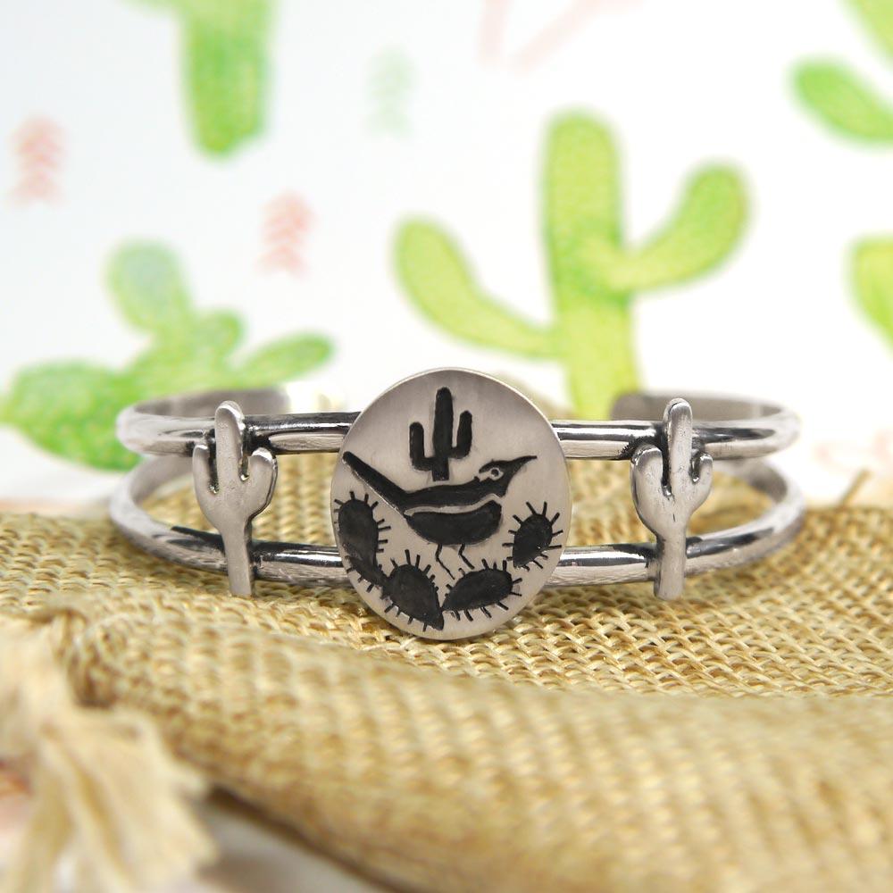 Arizona Desert Theme Bracelet with Cactus